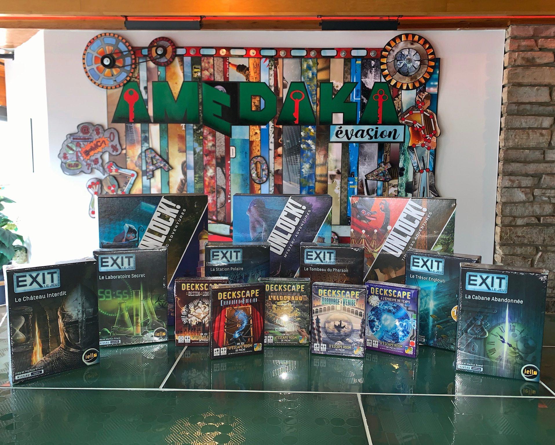 Faites défiler les photos suivantes pour voir tous nos jeux en inventaire!