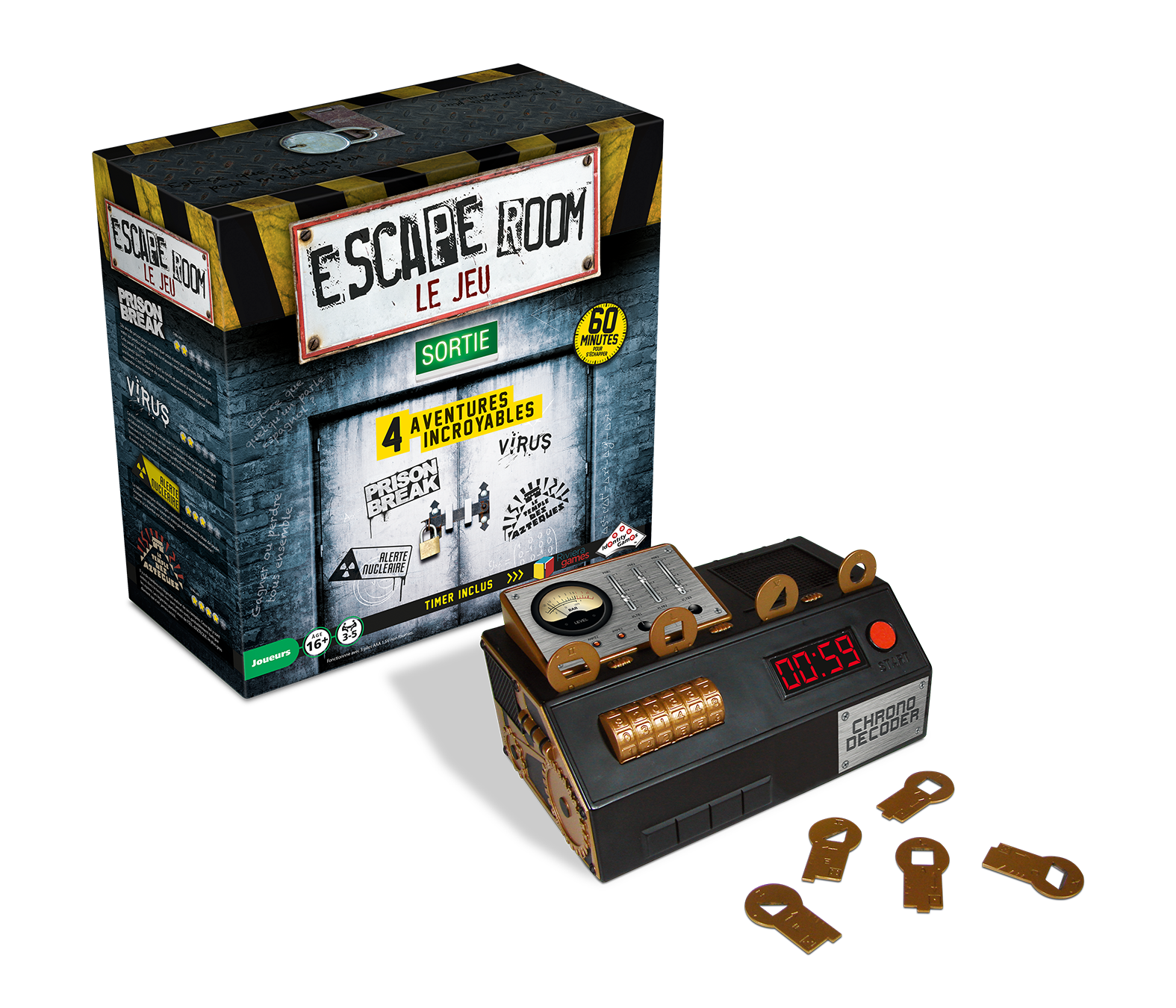 Escape Room 1 - coffret de base | 59,99$ | Location seulement