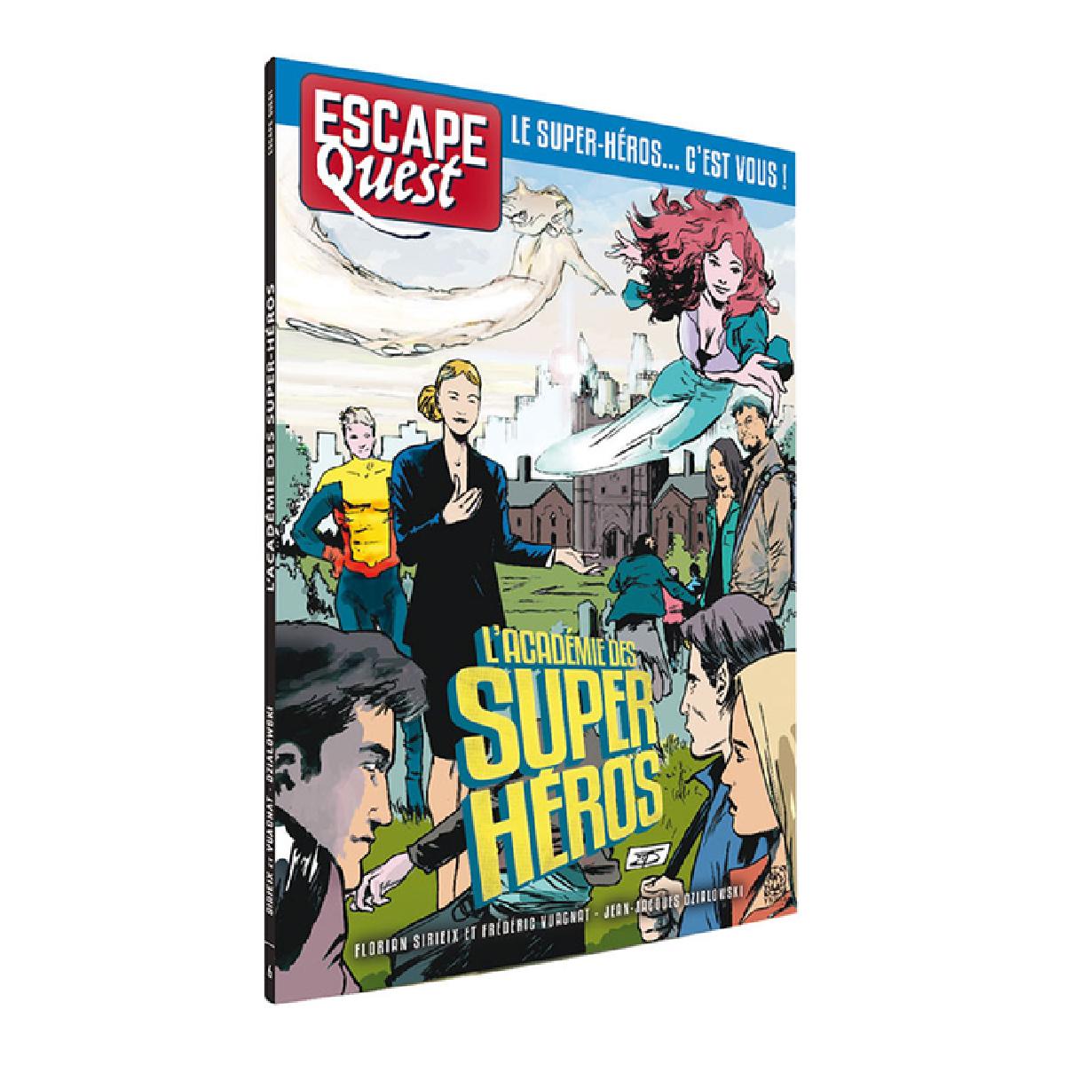 Livre Escape Quest - L'académiedes super-héros   17,99$